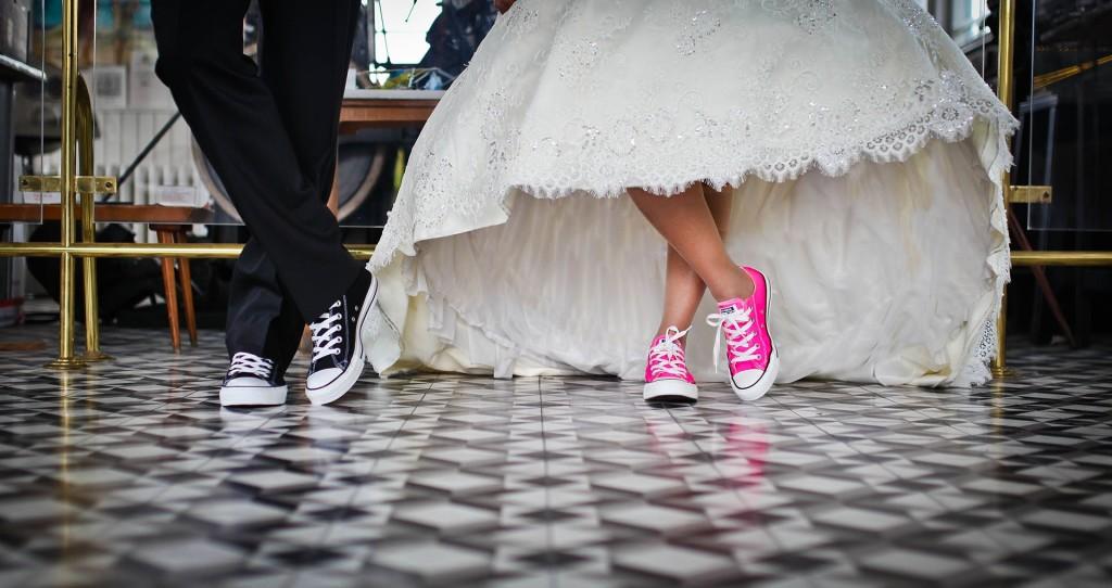 Nevěsta, ženich boty