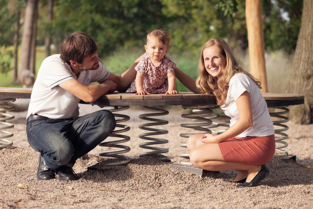 Rodinný portrét, dcera a rodiče