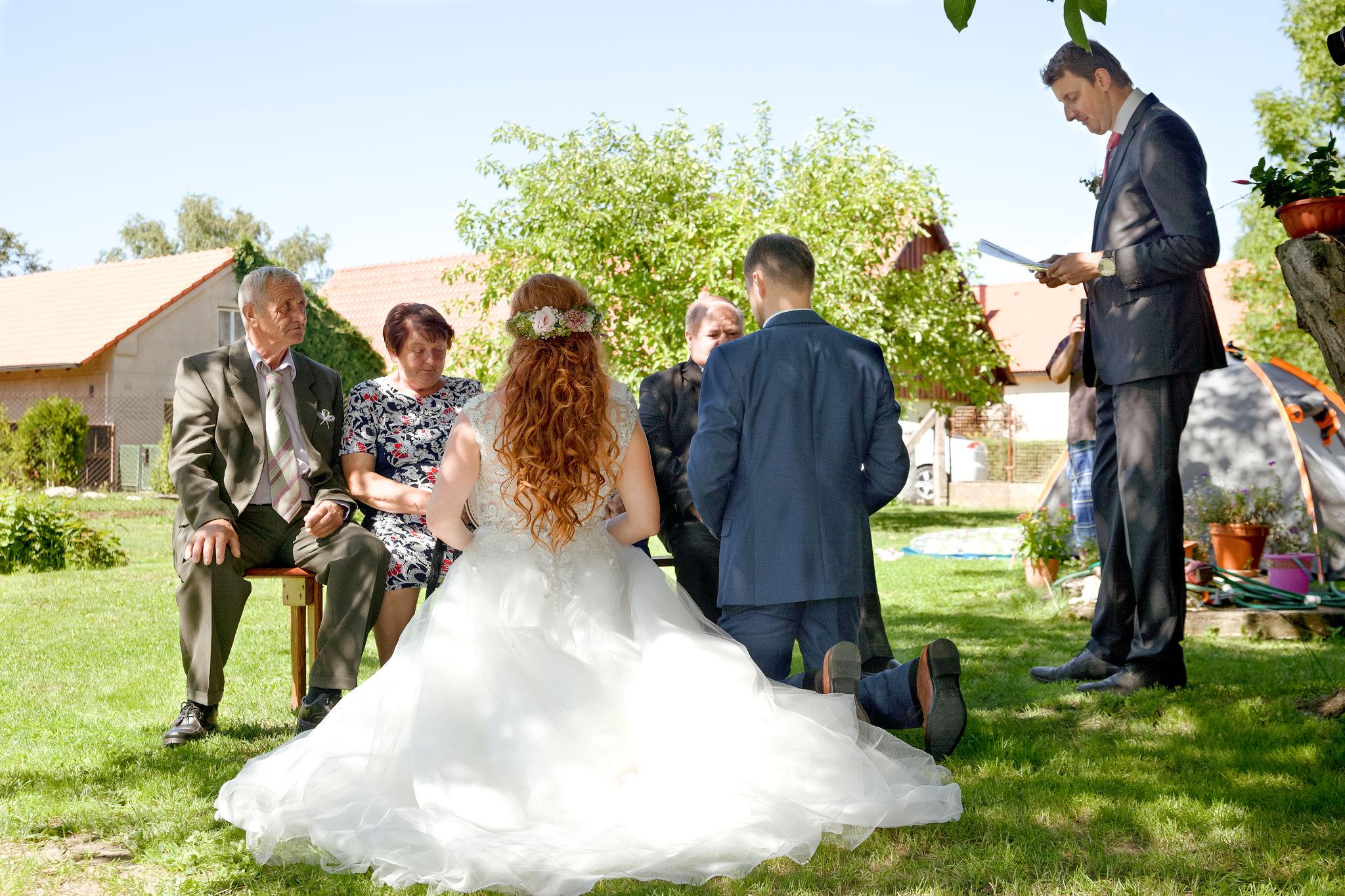 Církevní svatba, fotograf Břetislav Válek