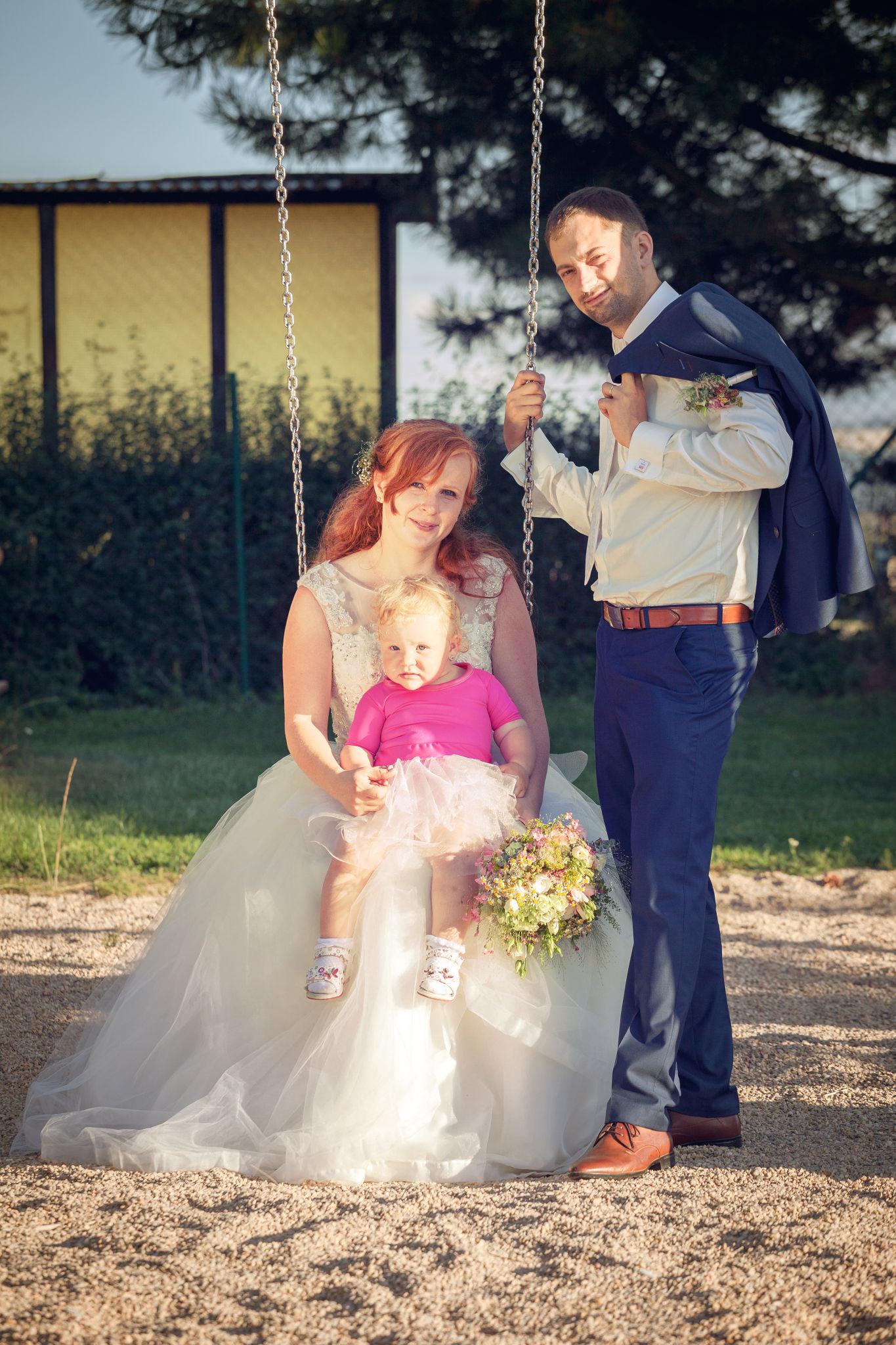 Svatba, rodina, nevěsta, ženich, fotograf Břetislav Válek