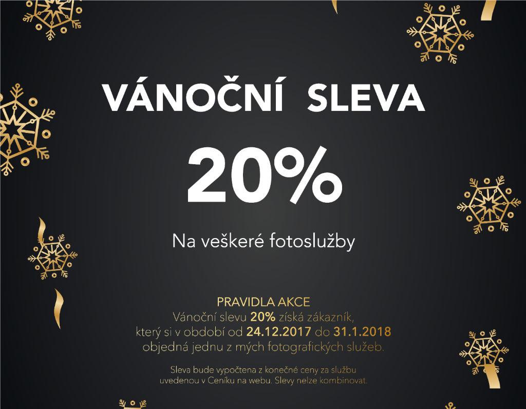 Speciální Vánoční sleva 20% na fotografické služby
