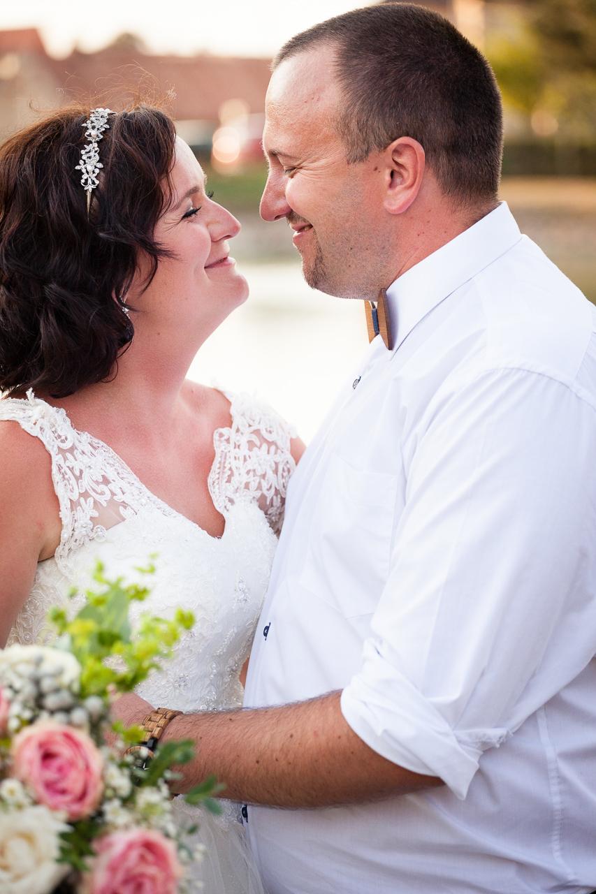 Svatební portrét, close-up