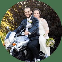 Tereza a Martin na motorce
