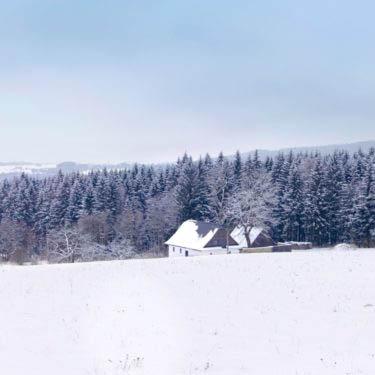 Křižánky v zimě, Vysočina