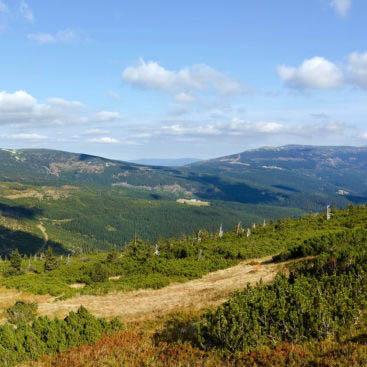 Podzimní Krkonoše, panorama
