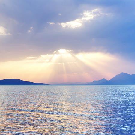 Západ slunce, Tučepi, Chorvatsko