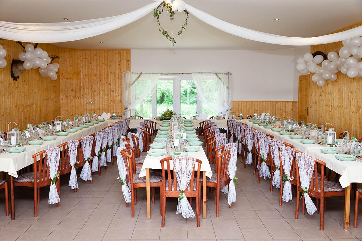 Hájovna Žiželice, svatební tabule, hostina