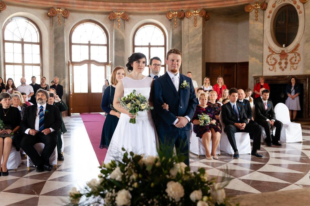 Mramorový sál, Karlova Koruna, svatba