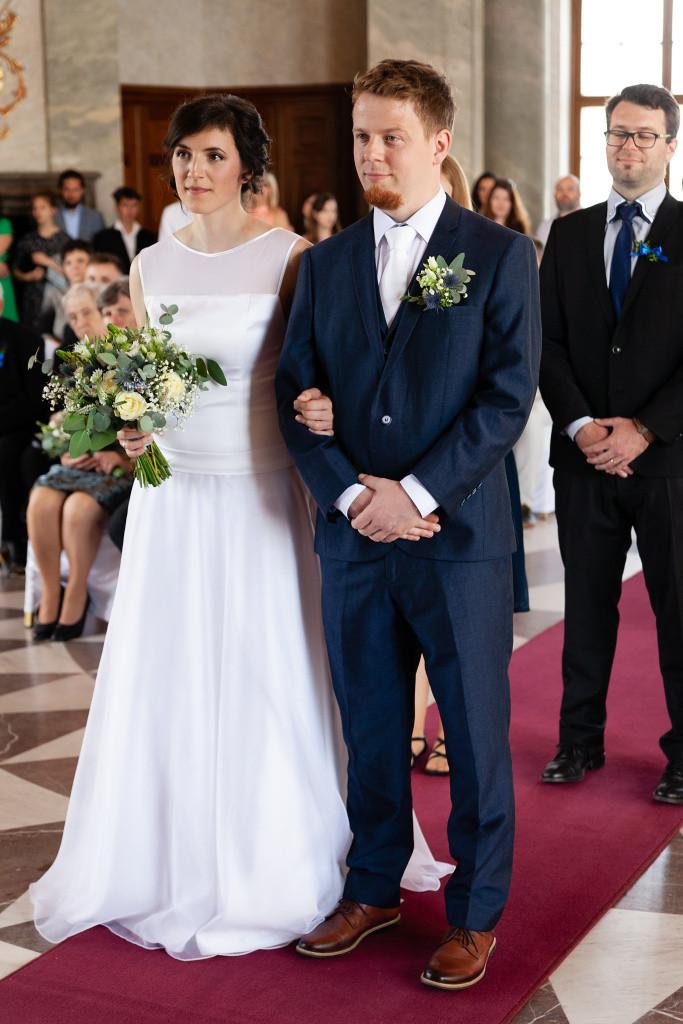 Ženich a nevěsta, Mramorový sál, Karlova Koruna, svatba
