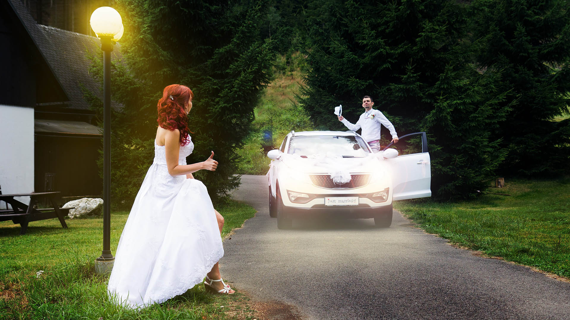 Nevěsta stopuje ženicha