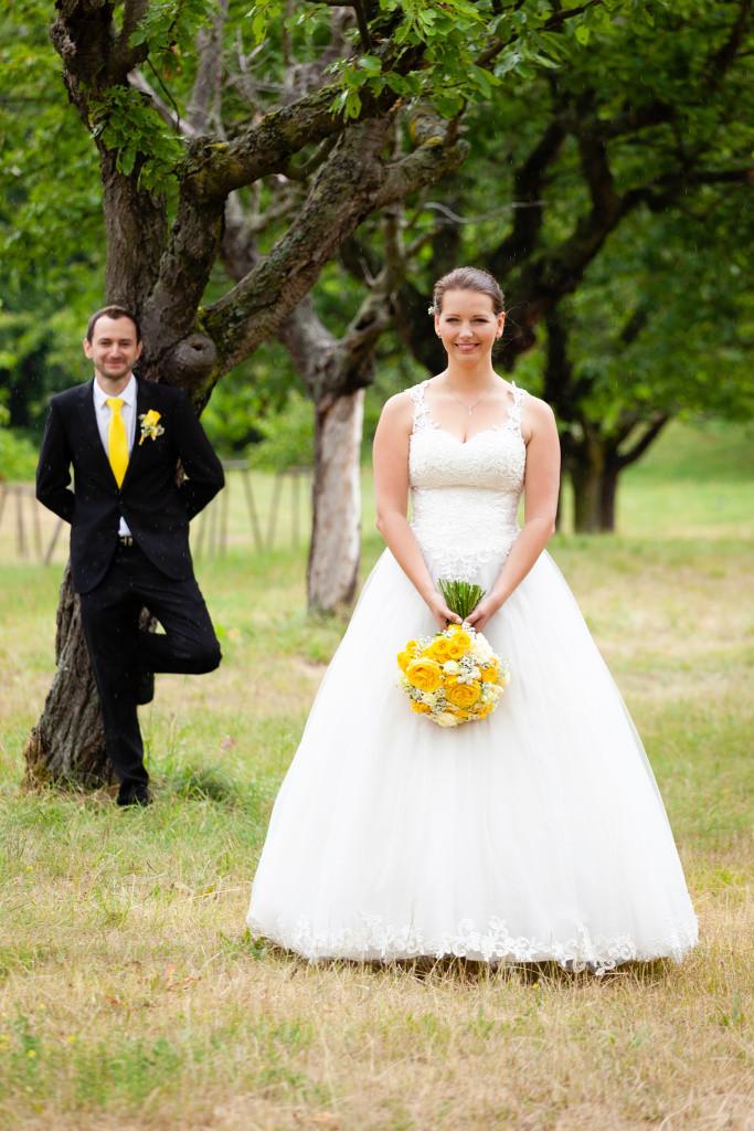 Nevěsta a ženich, portrét