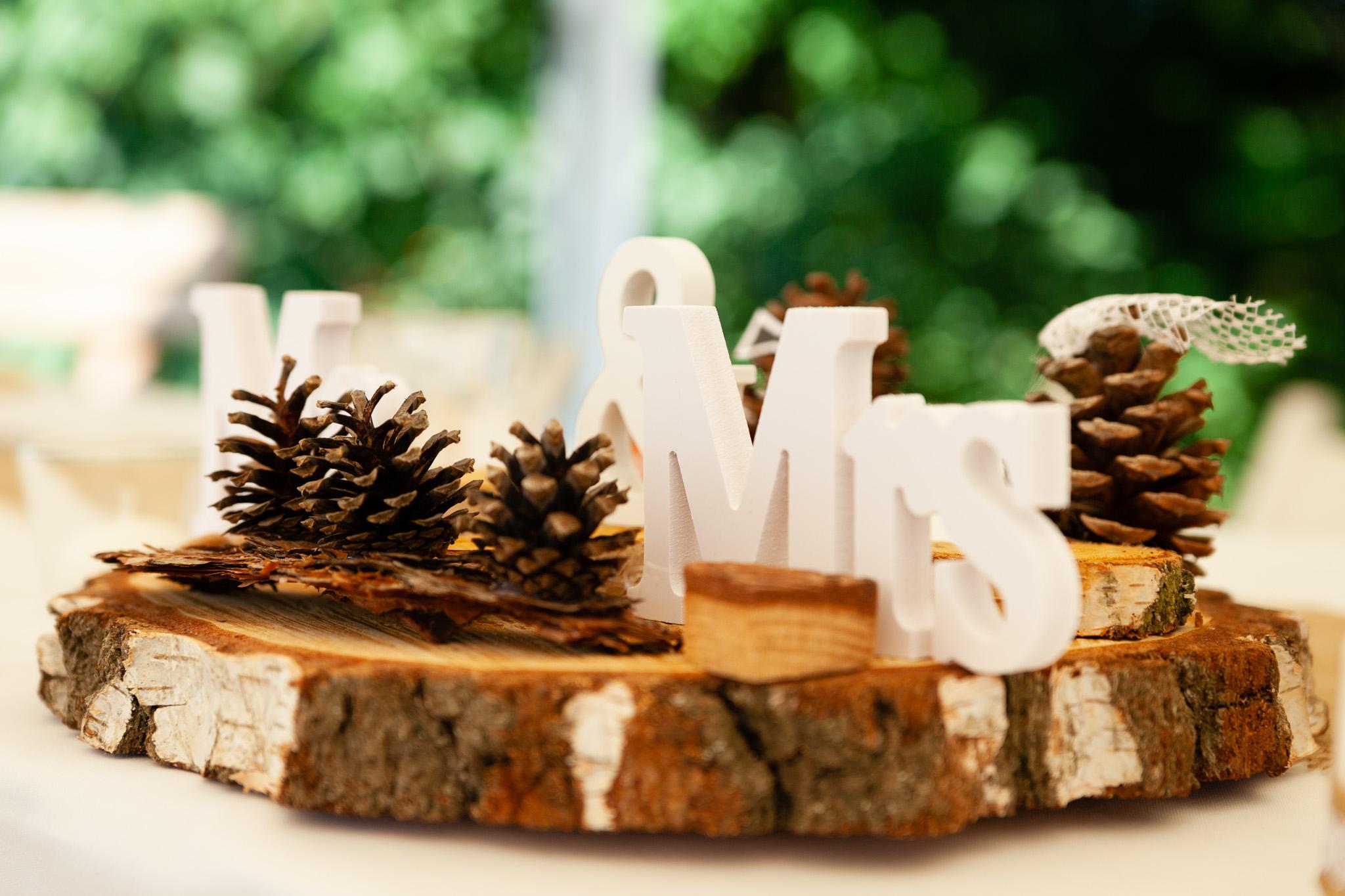 Svatební dekorace, Mr. a Mrs