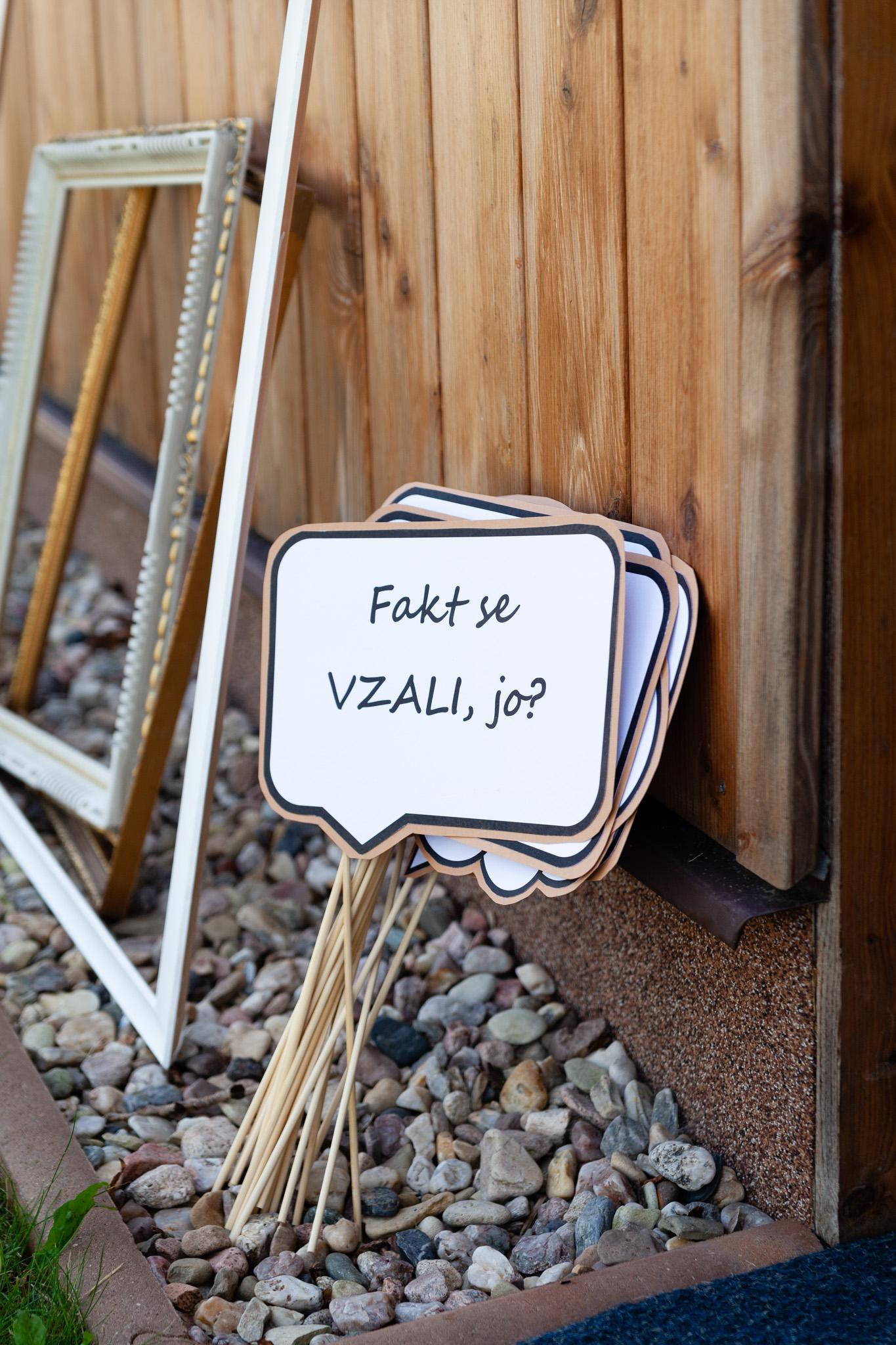 Svatební bubliny s vtipnými texty