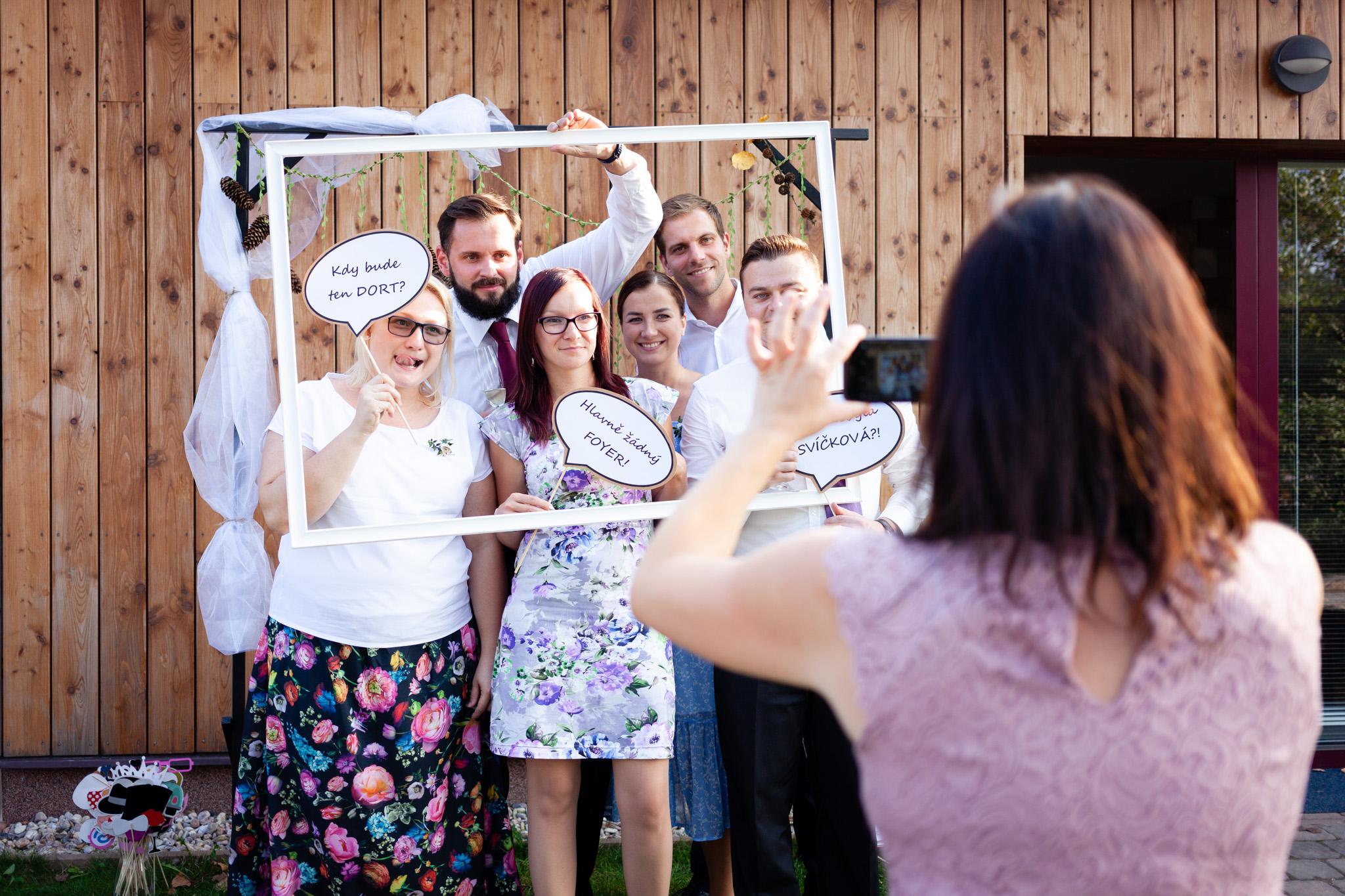 Skupinové focení, svatba