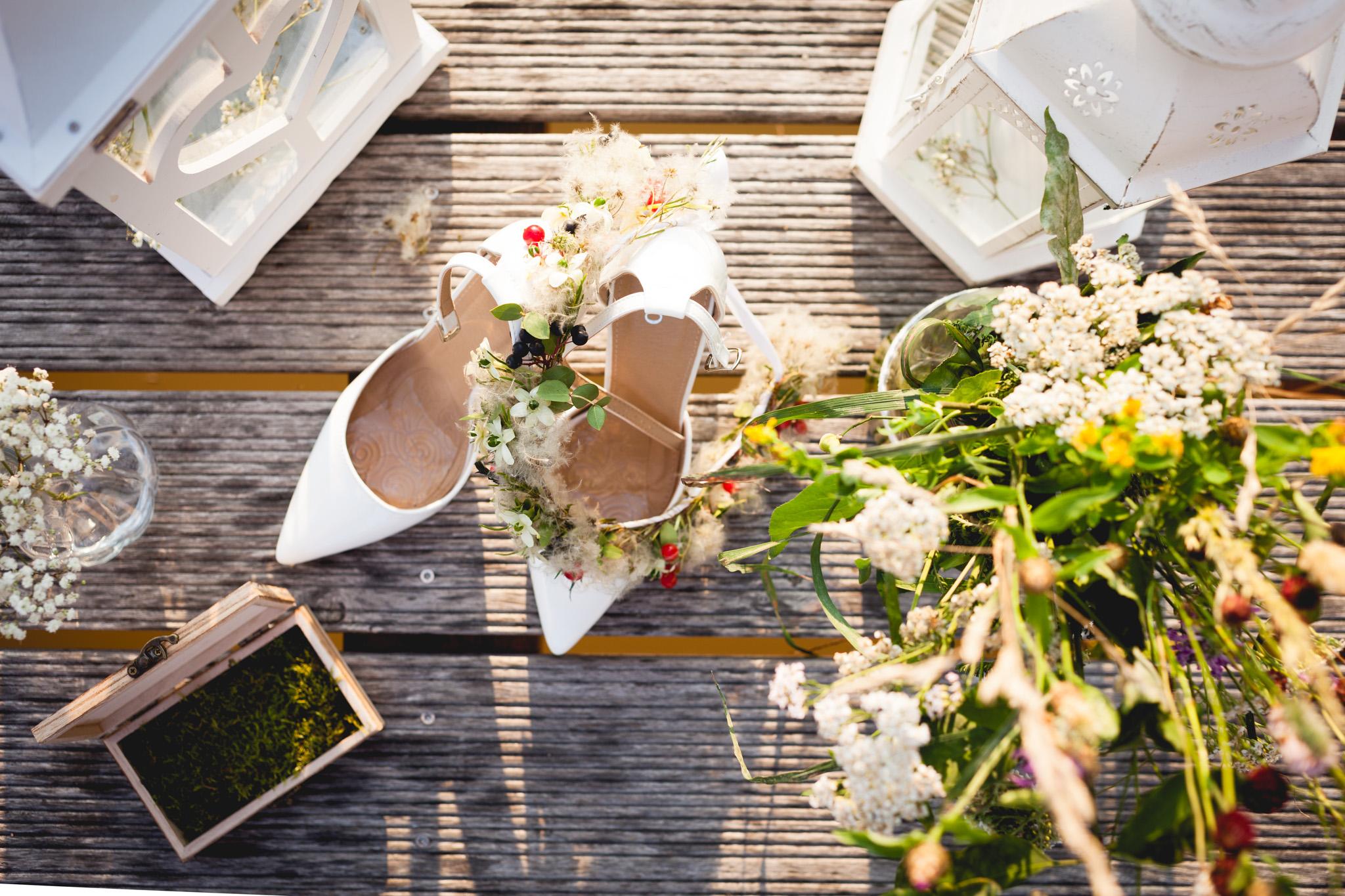 Detail na boty nevěsty