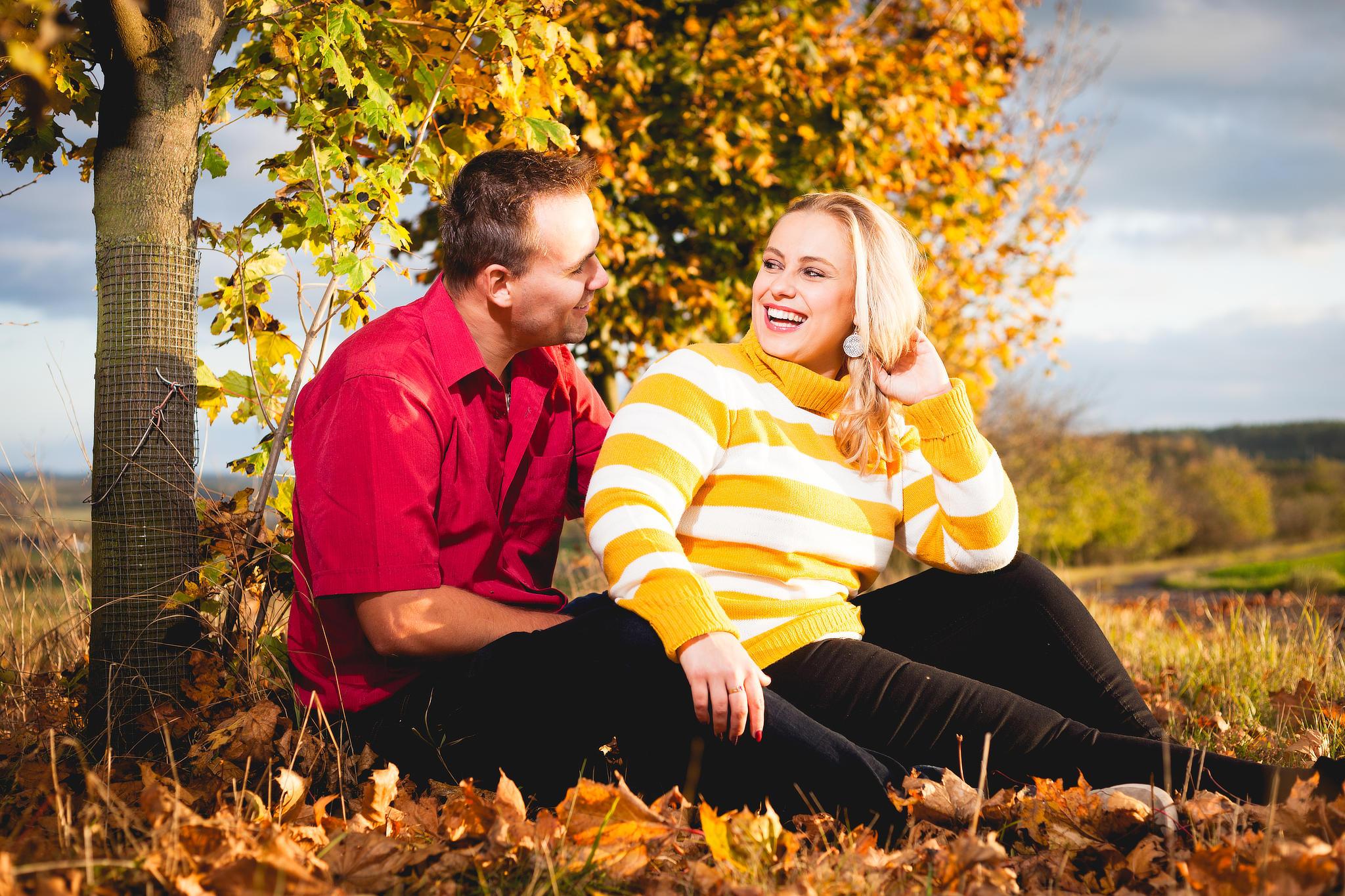 Podzimní portréty Kláry a Martina