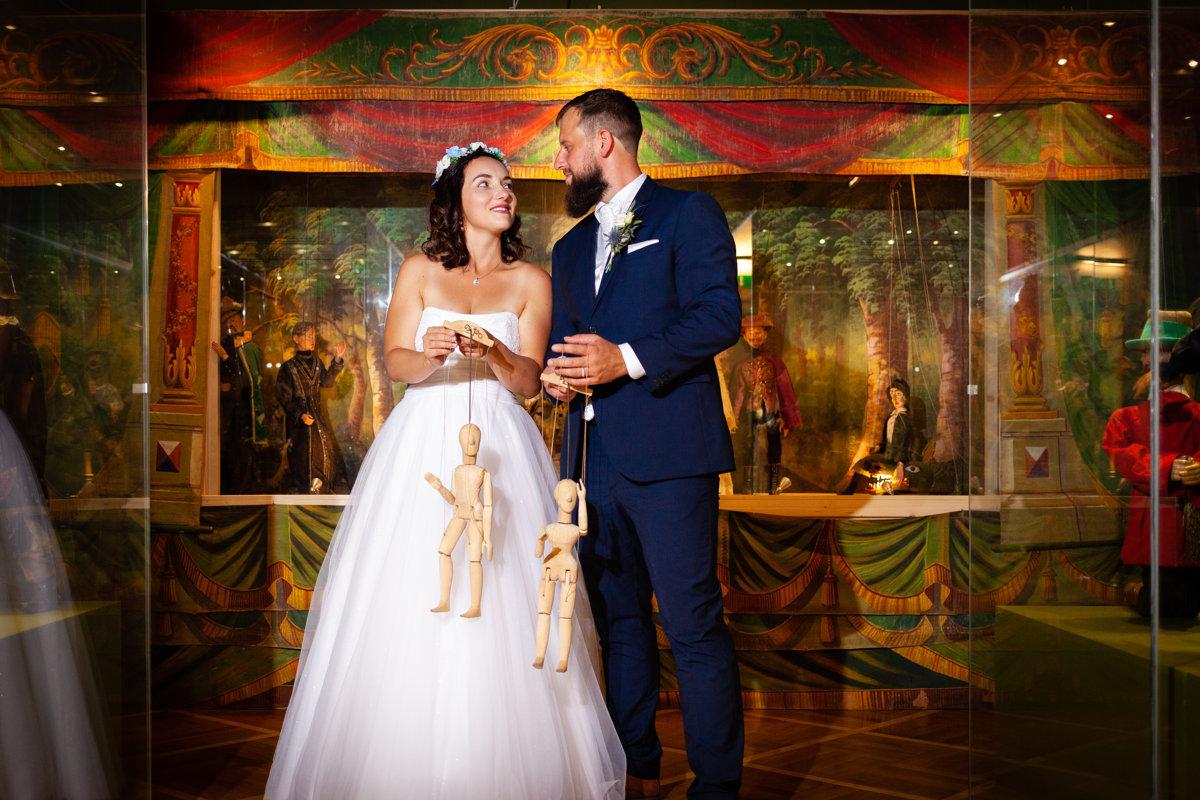 Loutkářské muzeum, Chrudim, svatební portrét