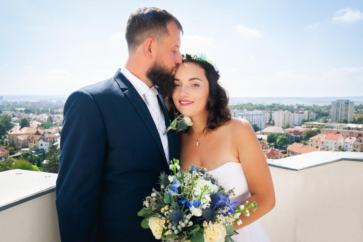 Svatební portrét, detail, Chrudim, náměstí