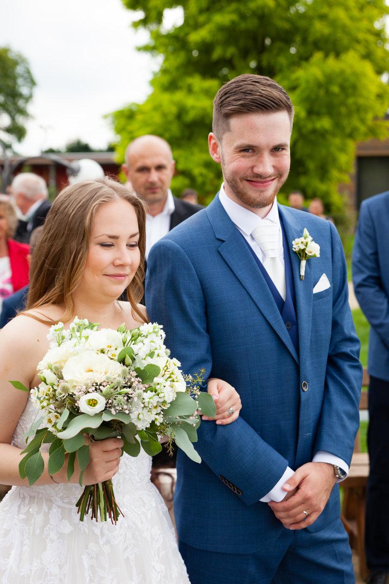 Svatební obřad, portrét nevěsty a ženicha