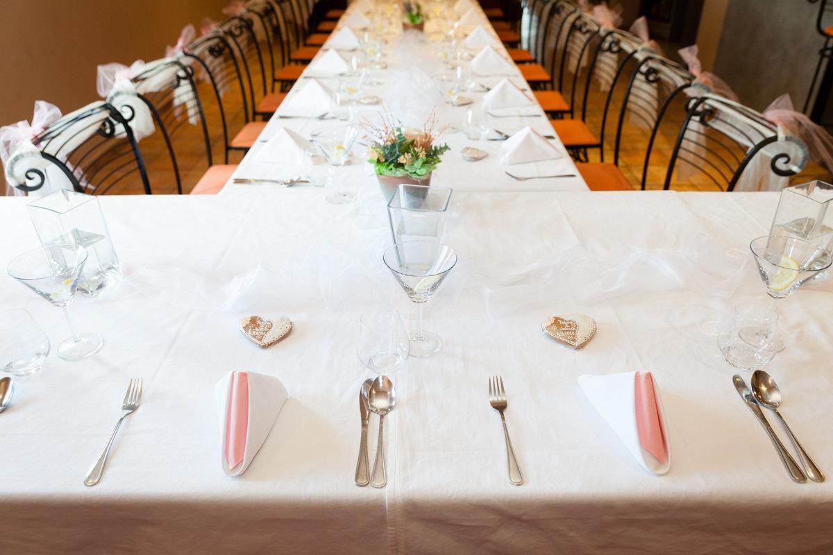 Svatební tabule, restaurace Na Výsluní, Srch