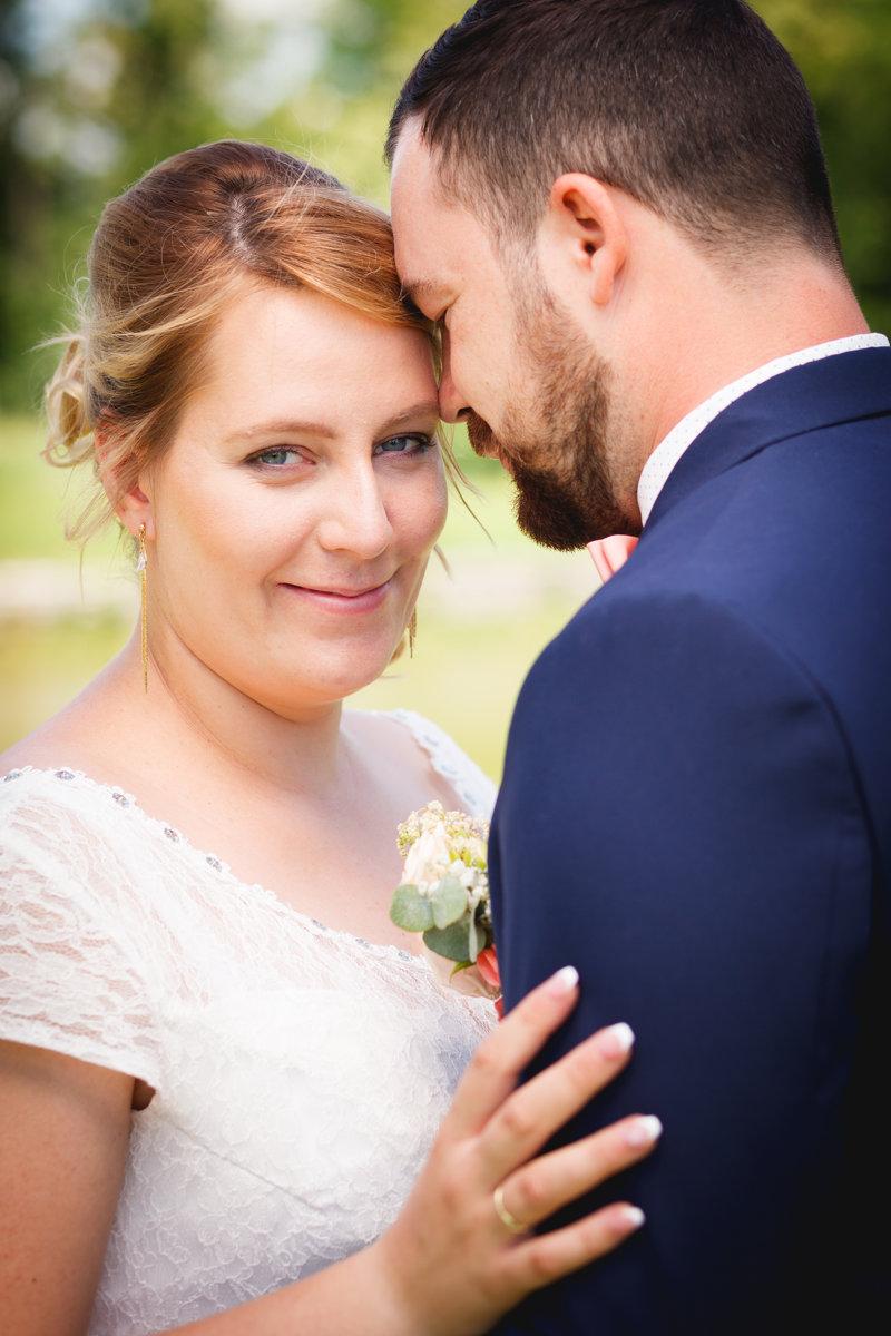 Portrét nevěsty se ženichem, svatba