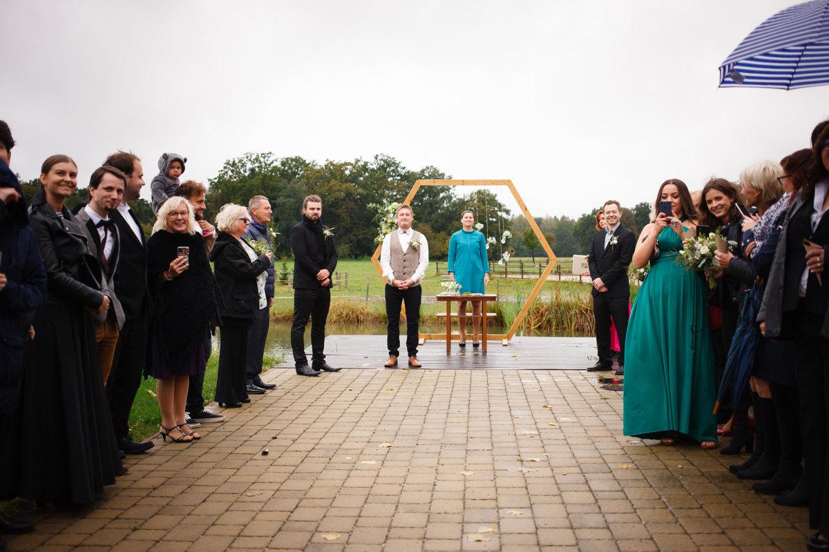 Svatební obřad, ženich, Ranč Orlice