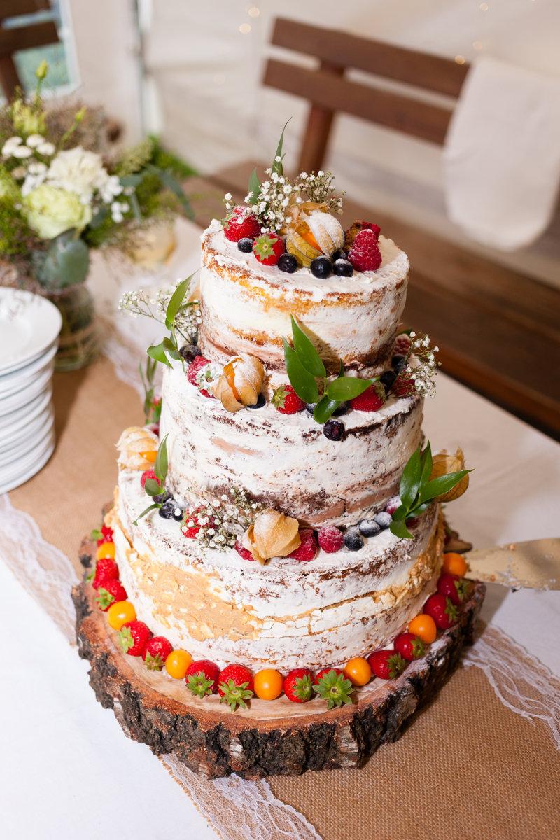 Svatební dort, přírodní, svatba, Ranč Orlice