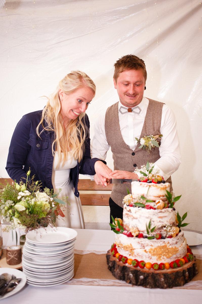 Krájení dortu, svatba Ranč Orlice