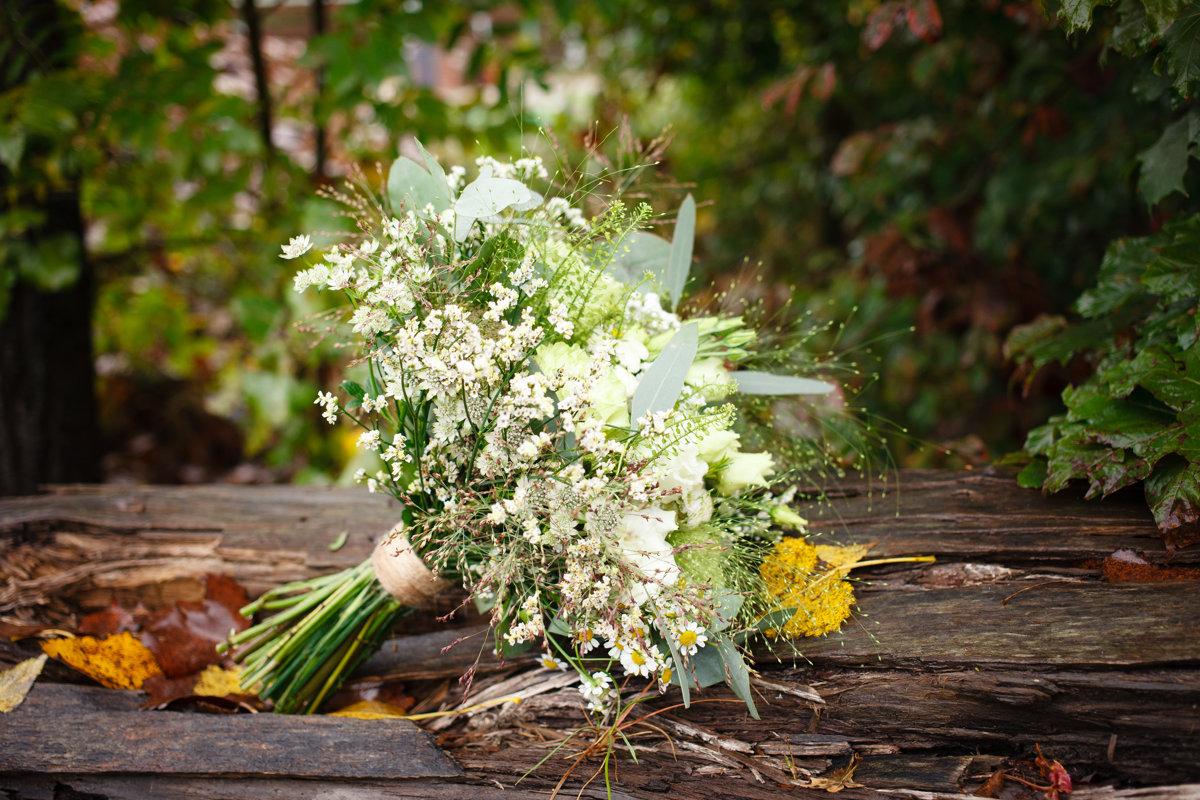 Svatební kytice, detail, Ranč Orlice
