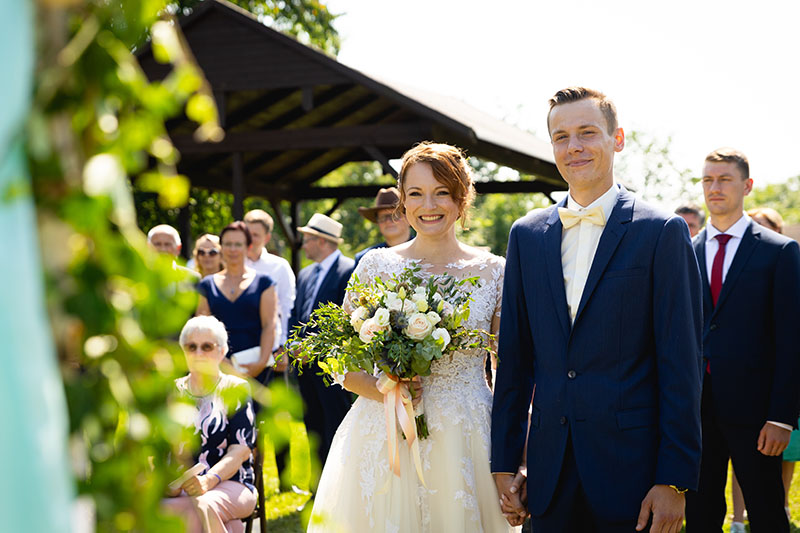 Obřad, svatba, Horní Raškovice, nevěsta, ženich