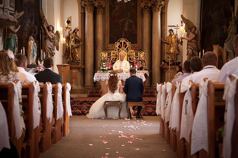 Svatba, obřad, kostel, Hrochův Týnec