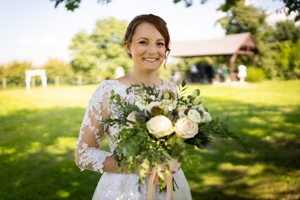 Portrét nevěsty po obřadu